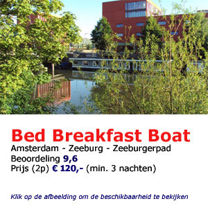 bed and breakfast woonboot Amsterdam boat