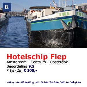 bed and breakfast woonboot Amsterdam hotelschip fiep